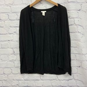 H&M Ladies Black Long Sleeve Cardigan